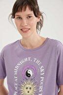 Defacto Coool Slogan Baskılı Pamuklu Relax Fit Kısa Kollu Tişört