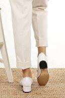 Mio Gusto Lottie Beyaz Rugan Topuklu Ayakkabı