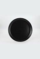Keramika Mat Siyah Hitit Servis Tabağı 25 cm 6 Adet