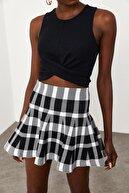 Xena Kadın Siyah Çarpraz Detaylı Bluz 1KZK2-11576-02