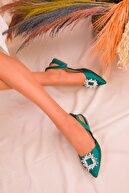 Soho Exclusive Yeşil Saten Kadın Babet 16025