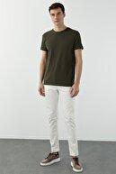 Network Erkek Slim Fit Haki T-shirt 1077937