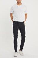 XHAN Erkek Siyah Slim Fit Jean Pantolon 1kxe5-44354-02