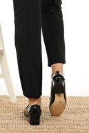 Mio Gusto Angela Siyah Rugan Topuklu Ayakkabı