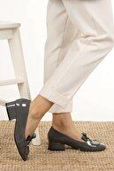 Mio Gusto Lottie Gri Rugan Topuklu Ayakkabı
