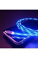 MADEPAZAR Mavi Renk Neon Işıklı Ledli Yeni Nesil Iphone Kablo