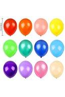 webcenter 10 Farklı Renk Gökkuşağı Partisi 100 Adet Metalik Balon