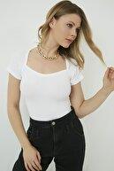 Vis a Vis Kadın Beyaz Yaka Detaylı Kaşkorse Bluz STN904KBL158