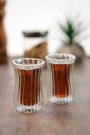 Perotti Çift Cıdarlı Optik Çay Bardağı 2'li 11102
