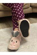 HYBC Kadın Pudra Tavşan Modelli Panduf