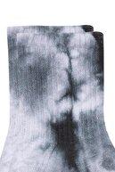 Mavi Kadın Batik Desenli Siyah Soket Çorap 198168-900