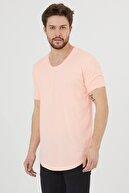 Tarz Cool Erkek Şeker Pembe Salaş T-shirt