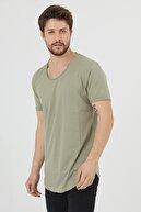 Tarz Cool Erkek Açık Haki Salaş T-shirt