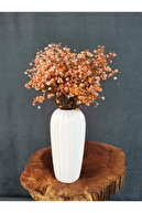 Decolass Kuru Çiçek Şoklanmış Cipso Turuncu 45 cm