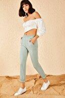 Bianco Lucci Kadın Mint Yeşili Üç İplik Eşofman Altı 10191010