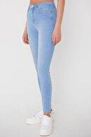 Addax Kadın Açık Kot Rengi Cep Detaylı Jean Pantolon Pn7192 - Pnj Adx-0000023720