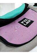 Vatkalimon Unisex Gri Renkli Omuz Ve Bel Çantası