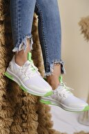Oksit Infinite Renk Detaylı Fileli Kalın Taban Kadın Sneaker