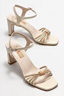 Elle Kadın Ekru Topuklu Sandalet
