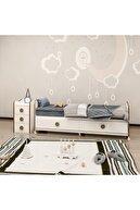 Garaj Home Melina Sümela Uyku Setli Beşik Kombini- Uykuseti Beyaz