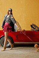 Koton Kadın Siyah Desenli Skirtly Yours Styled By Melis Agazat Bluz