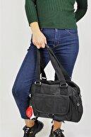 Smart Bags Siyah Krinkıl Omuz Çantası 1122