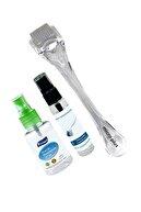 Micro Plus Dermaroller 1.00mm Titanyum 540 Iğneli Saç Yüz Vücut Derma Roller Cilt Ve Dermaroller Dezenfektanı