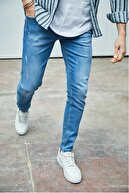 Sateen Men Erkek Açık Mavi Slimfit Denim Pantolon