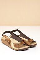Pierre Cardin Pc-1360 Bronz-bej Kadın Sandalet