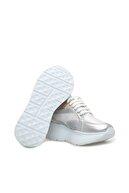 Divarese Hakiki Deri Gümüş Rengi Sneaker