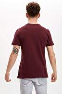 Defacto Yazı Baskılı Slim Fit Tişört
