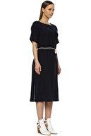 Network Kadın Diz Boy Lacivert Elbise 1072914