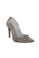 Beggi Kadın Şefaf Taşlı Ince Topuklu Ayakkabı