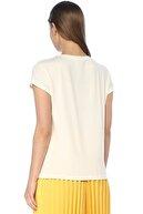 Network Kadın Regular Fit Ekru Tshirt 1073768