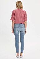 Defacto Kadın Mavi Kot Skinny Fit Jean Pantolon R2126AZ.20SM.NM39