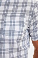 Defacto Regular Fit Ekose Desenli Kısa Kollu Gömlek