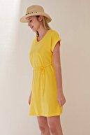 Defacto Kadın Sarı Belden Bağlama Detaylı Örme Elbise N7160AZ.20SM.YL243