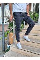 Tarz Cool Erkek Füme Paça Lastikli Likralı Jogger Pantolon