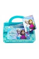 Depomiks Avm Frozen Güzellik Seti + Makyaj Seti Elsa Güzellik Çantası Evcilik Oyuncak Kız Çocuk Oyuncak Depomiks