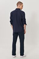 Wrangler Erkek Lacivert Arizona Straight Fit Normal Bel 5 Cep Esnek Pantolon