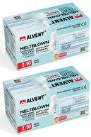 ALVENT Yumuşak Kulaklı Meltblown Maske 100 Adet ( En Az %98 Koruma - Sertifikalı ) - Bebek Mavisi