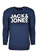 Jack & Jones JJECORP LOGO SWEAT CREW N Lacivert Erkek Sweatshirt 101016180