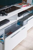 Adore Mobilya Flat Line Due Extra Tv Ünitesi Noce/lake Beyaz