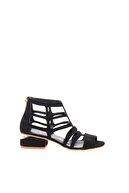 Bambi Siyah Süet Kadın Klasik Topuklu Ayakkabı L0525130072