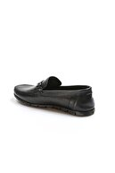 Fast Step Hakiki Deri Siyah Erkek Loafer Ayakkabı 783ma06