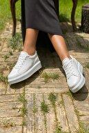 İnan Ayakkabı 1. Kalite Suni Deri Bayan Spor Ayakkabı