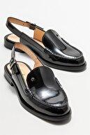 Elle Kadın Siyah Deri Düz Ayakkabı