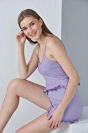 Morpile Fırfırlı Şortlu Pijama Takım
