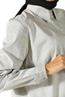 ALLDAY Kadın Yeşil Pamuklu Gömlek Tunik