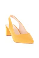 Bambi Hardal Nubuk Kadın Klasik Topuklu Ayakkabı K01503721071